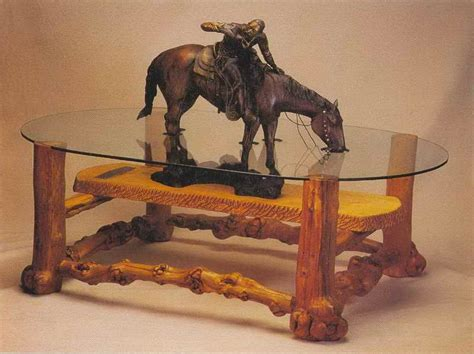 Original Design Of The Western Style Coffee Table With Red
