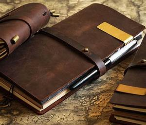 Vintage Diary Notebook Journal Blank Leather Cover Diary