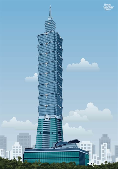 taipei building vector vector art graphics freevectorcom