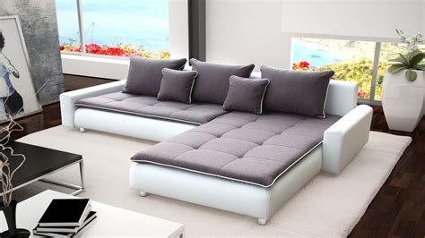 grey leather and fabric sofa large white faux leather grey fabric corner sofa