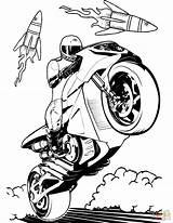 Wheels Coloring Motorcycle Pages Printable sketch template