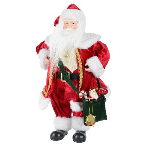 16 quot 40cm red white standing santa clause christmas