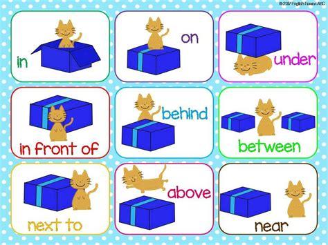 preposition  places flash cards exercises