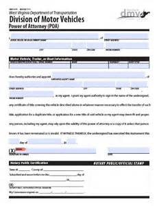 West Virginia Power of Attorney Vehicle Form