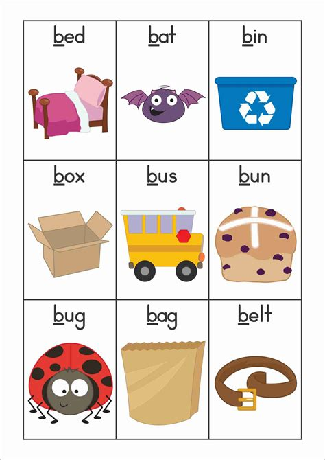 alphabet phonics letter of the week b words 115 | 2b4bc668411b5fac69c60834476f56cf