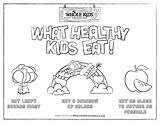 Coloring Sheet Healthy Eating Worksheets Nutrition Foundation Principles Whole Health Printable Princples sketch template
