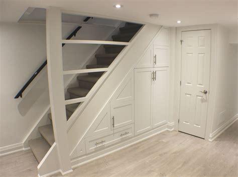toronto basement staircase storage toronto custom