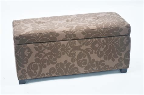 printed storage ottoman bolbolac floral print storage ottoman with button home