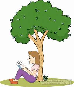 Book Clipart : sitting-under-a-tree-reading-clipart ...