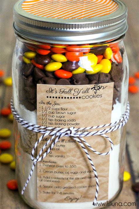 fall cookies   jar gift
