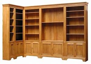 Meuble Bibliothèque Bois : bibliotheque bois massif ~ Teatrodelosmanantiales.com Idées de Décoration