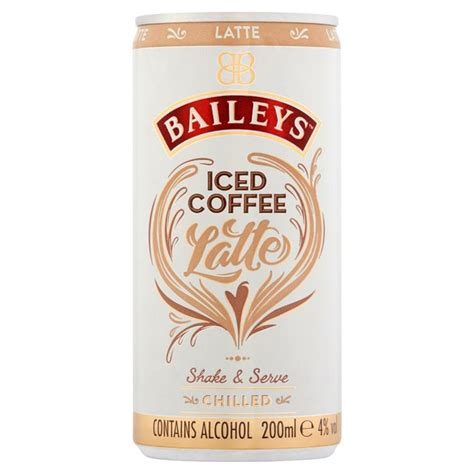 The renowned flavor of baileys now in flavored creamers. Baileys Iced Coffee Latte Can   Ocado