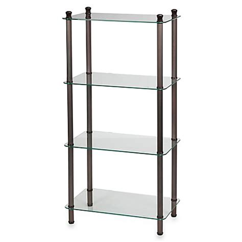 Metal Etagere Tower by L Etagere 4 Shelf Wide Tower In Rubbed Bronze Bed
