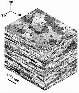 Isometric Optical Micrographs Showing The Microstructure