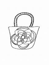 Handbag Coloring Mycoloring Handtasche Ausmalbilder Printable Malvorlagen Zum sketch template