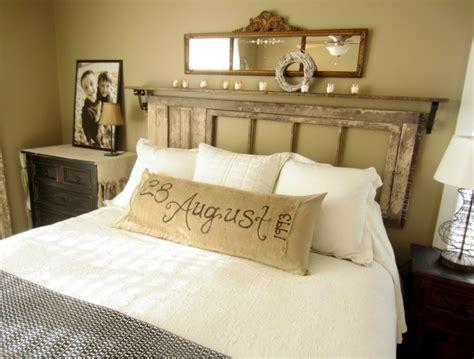 fabriquer chambre fabriquer une tête de lit en bois avec une porte la
