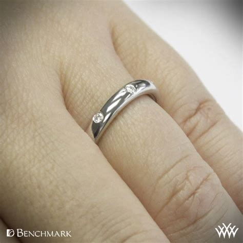 wedding band to fit engagement ring comfort fit scattered diamond wedding band whiteflash 234