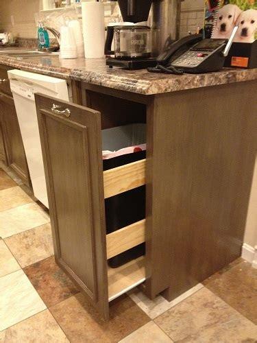 kitchen cabinet trash pull out white kitchen trash pull out cabinet diy projects