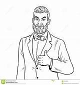 Homme Coloring Barbe Beard Haut Vecteur Pouces Livre Herauf Bart Greift Mann Ab Coloriage Manie Maladroitement Vers Dessin Coloration Avec sketch template