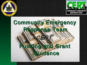 Cert funding-and-grant-guidance
