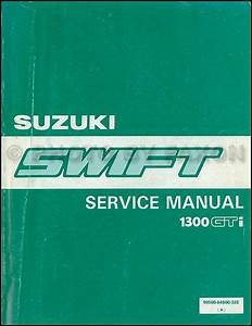 1990 Suzuki Swift 1300 Repair Shop Manual Supplement Original Ga Gs Gl Glx