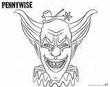 Coloring Pages Pennywise Printable Hat Getcolorings sketch template