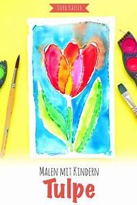 Mit Wasserfarbe Malen : malen mit kindern tulpe aus leim und wasserfarben ~ Watch28wear.com Haus und Dekorationen