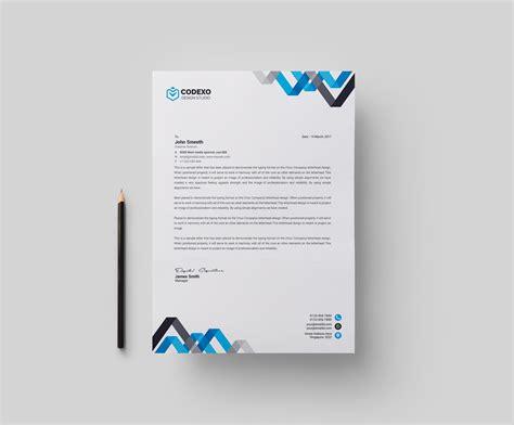 chevron professional corporate letterhead template