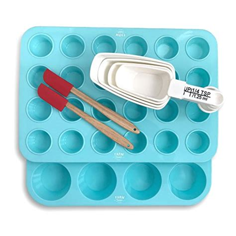 silicone non muffin toxic bpa smell taste stick pan cup mini baking gram flimsy molds thick grade professional