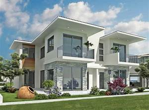Modern exterior home designs with white paint color home for White color house design outside