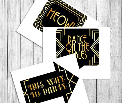 party props gatsby printable photobooth props