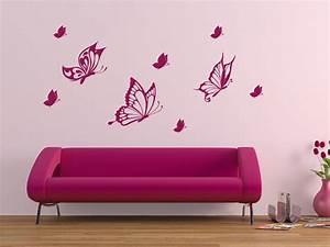 Wandtattoo Kinderzimmer Schmetterlinge : wandtattoo dekorative schmetterlinge ~ Sanjose-hotels-ca.com Haus und Dekorationen