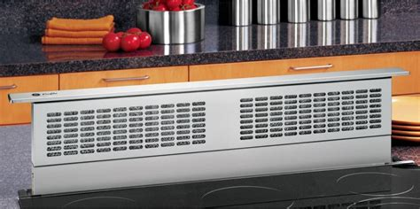 pvbstss ge profile series  telescopic downdraft system stainless steel