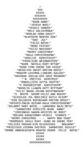 ascii art christmas tree drawn with typed ch