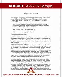 executive employment agreement contract template with sample With ceo employment contract template
