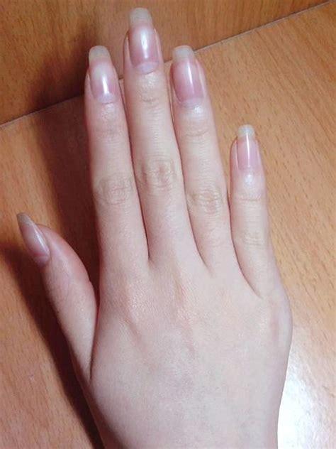 square nails       natural nails