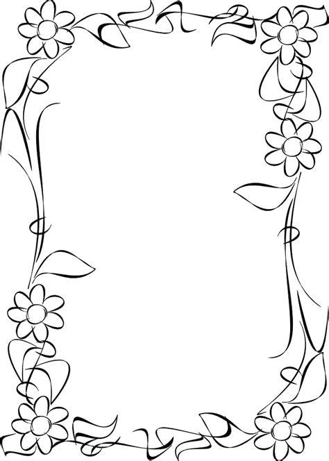 marcos de flores blanco  negro descargar marcos vintage gratis