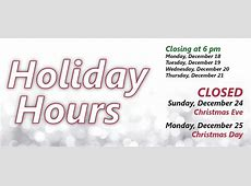 Holiday closings – Jackson County Public Library