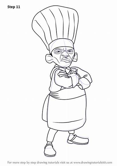 Ratatouille Skinner Draw Drawing Step Learn Complete