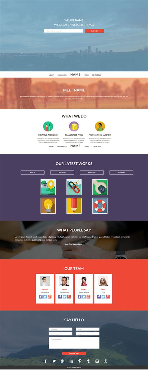 page flat html template