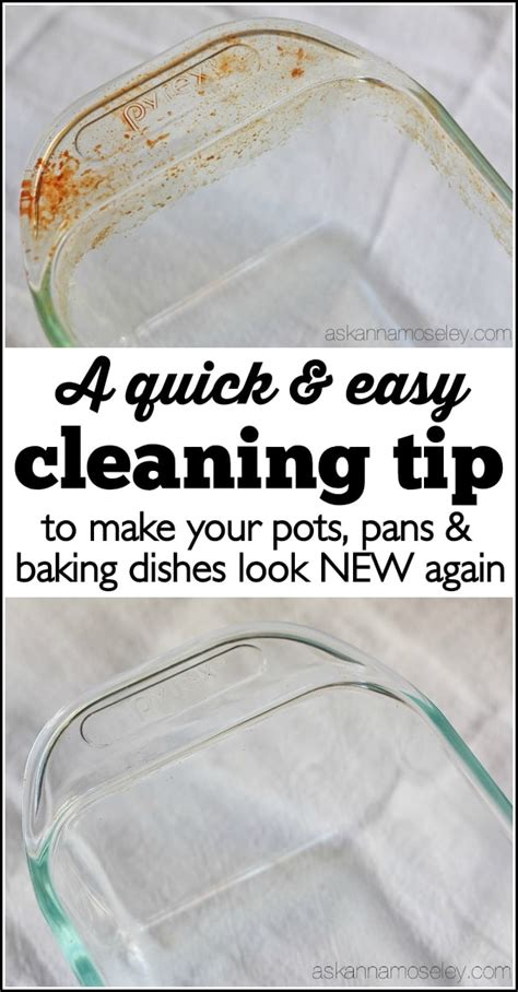 clean baked  grease  pots pans baking