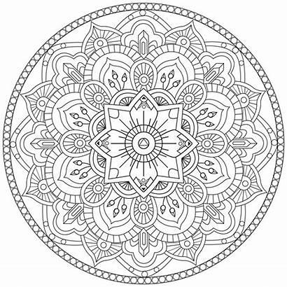 Mandala Mandalas Coloring Coloriage Colorier Adult Gratuit