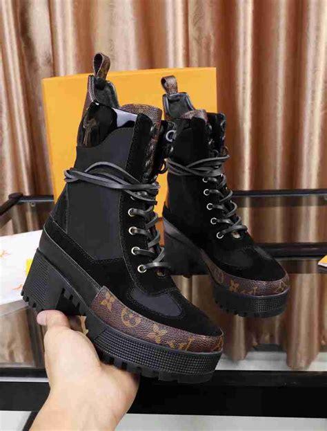 louis vuitton laureate platform desert boots  minerva