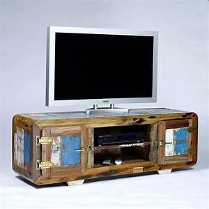 Meuble Tv Bois Pas Cher : meuble tv bois pas cher ~ Teatrodelosmanantiales.com Idées de Décoration
