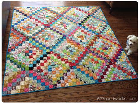 trip around the world quilt pattern scrappy trip around the world done 627handworks