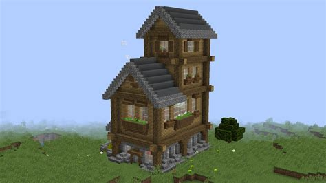 small rustic house  mb map  minecraft