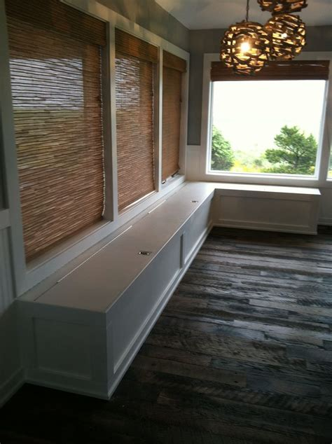 Banquette bench for a bay window, kitchen seating, shaped bench, breakfast nook. Pin by Tammy Morris on Made by me | Dining room bench ...
