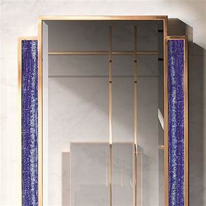 tiffany luxury lapis lazuli tall wall mirror robson With kitchen cabinets lowes with lapis lazuli wall art