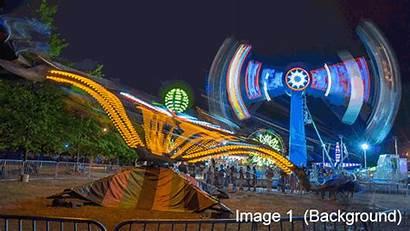 Rides Carnival Fairground Amusement Park Photograph Combine