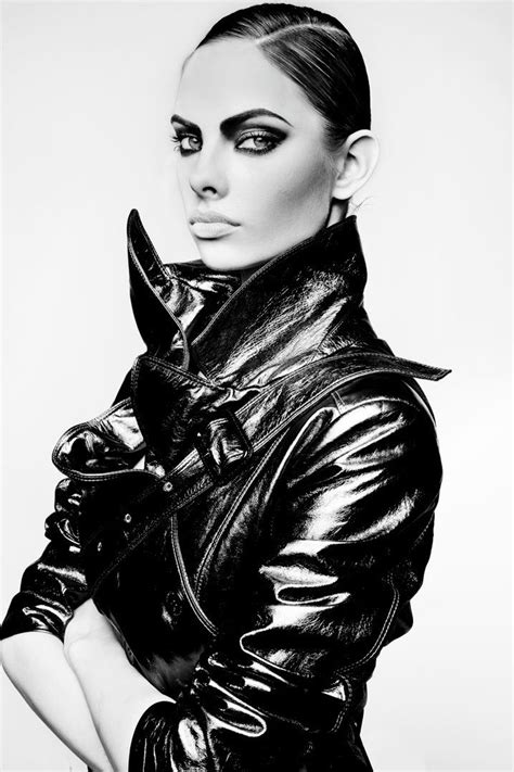 Dioni Tabbers   Black and White #photography #makeup #